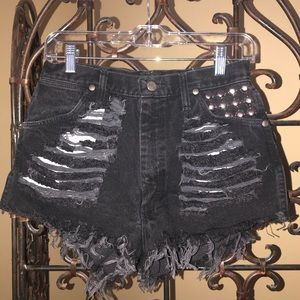 Wrangler high waisted embellished shorts